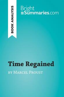 Time Regained by Marcel Proust (Book Analysis)
