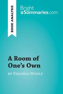 A Room of One's Own by Virginia Woolf (Book Analysis)