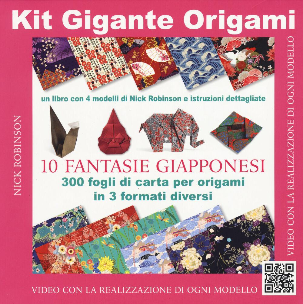 Kit gigante origami. Fantasie giapponesi