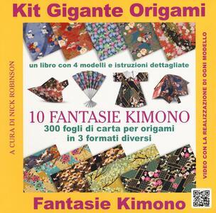 Kit gigante origami. 10 fantasie kimono. Con gadget