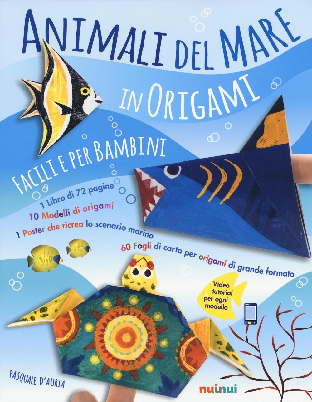 Animali del mare in origami facili per bambini. Con gadget