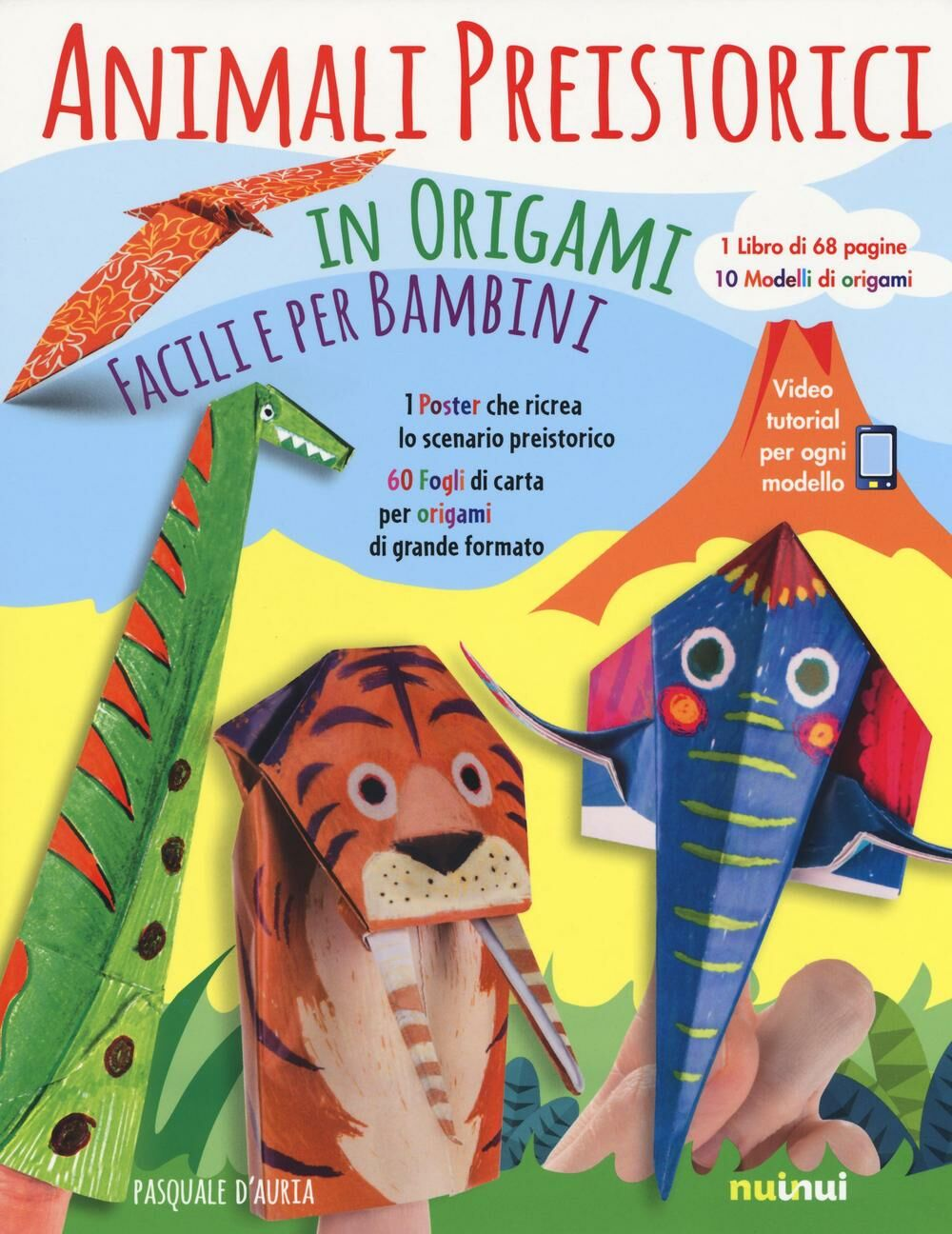 Animali preistorici in origami facili per bambini. Con gadget