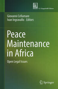 Peace maintenance in Africa. Open legal issues - copertina