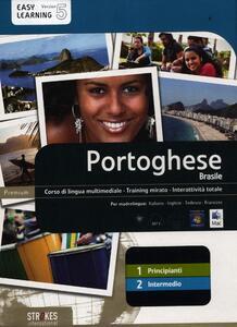 Portoghese Brasile. Vol. 1-2. Corso interattivo per principianti-Corso interattivo intermedio. DVD-ROM - copertina