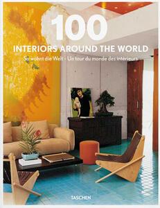100 interiors around the world. Ediz. italiana, spagnola e portoghese . Cofanetto - copertina