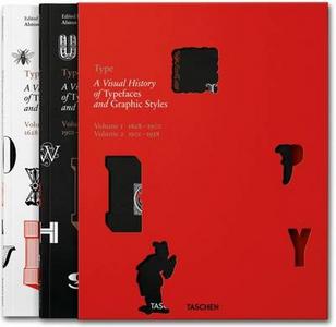 Libro Type. A visual history of typefaces & graphic styles (1628-1938). Ediz. inglese, francese e tedesca Cees W. De Jong , Jan Tholenaar , Altson W. Purvis