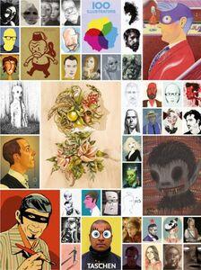 Foto Cover di 100 illustrators. Ediz. italiana, spagnola e portoghese, Libro di Steven Heller,Julius Wiedemann, edito da Taschen
