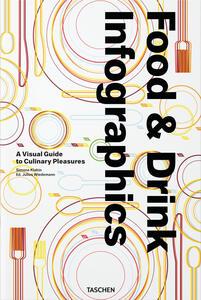 Food & drink infographics. A visual guide to culinary pleasures. Ediz italiana, spagnola e inglese - Simone Klabin - copertina