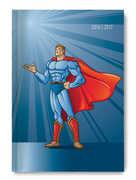 Cartoleria Diario Scuola Giornaliero 2016/2017 Collegetimer A6 Superhero Alpha Edition