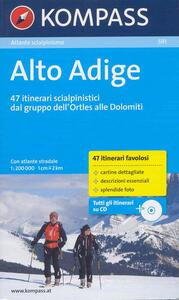 Atlante scialpinismo n. 591. Alto Adige. Con CD-ROM