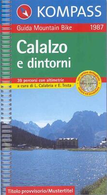 Museomemoriaeaccoglienza.it Guida bici e bike n. 1987. Calalzo e dintorni, MTB 1:50.000 Image