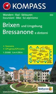 Carta escursionistica n. 050. Bressanone e dintorini 1:25.000. Adatto a GPS. Digital map. DVD-ROM - copertina