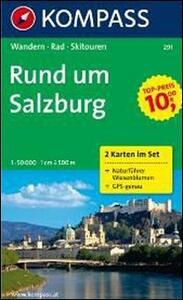 Carta escursionistica n. 291. Austria. Rund um Salzburg 1:50000. Due cartine. Guida naturalistica. Adatto a GPS. DVD-ROM. Digital map