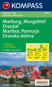 Squillogame.it Carta escursionistica n. 2802. Marburg, Murgebiet, Drautal-Maribor, Pomurje, Dravska dolina 1:75:000 Image