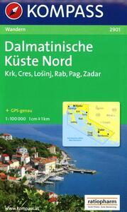Carta escursionistica n. 9001. Croatia. Dalmatinische Küste 1:100.000.Adatto a GPS. DVD-ROM. Digital map. Vol. 1: Krk, Cres, Rab, Losinj, Zadar.