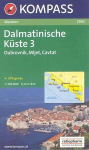 Carta escursionistica n. 2903. Croatia. Dalmatinische Küste 1:100.000. Adatto a GPS. DVD-ROM. Digital map. Vol. 3: Dubrovnik, Mljet, Cavat. - copertina
