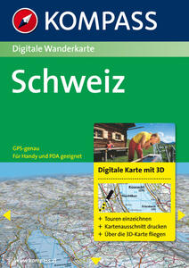 Carta digitale Svizzera n. 4312. Svizzera. Con 3 DVD-ROM. Digital map - copertina