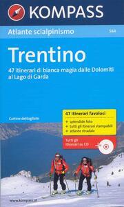 Atlante scialpinismo n. 584. Trentino. Con CD-ROM - copertina