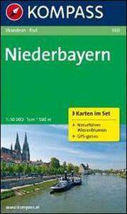 Carta escursionistica e stradale n. 160. Niederbayern SET 3 carte. Adatto a GPS. DVD-ROM. Digital map - copertina