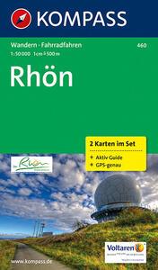 Carta escursionistica e stradale n. 460. Rhön set 2 carte. Adatto a GPS. DVD-ROM. Digital map - copertina