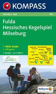 Carta escursionistica e stradale n. 461. Fulda, Hessisches Kegelspiel. Adatto a GPS. DVD-ROM. Digital map