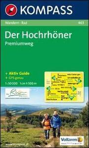 Carta escursionistica e stradale n. 463. Hochrhöner. Adatto a GPS. DVD-ROM. Digital map - copertina