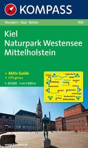 Carta escursionistica e stradale n. 709. Kiel, Naturpark Westensee. Adatto a GPS. DVD-ROM. Digital map - copertina