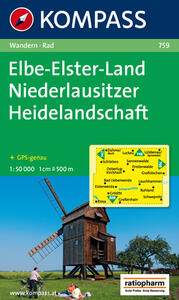 Carta escursionistica e stradale n. 759. Elbe-Elster-Land. Adatto a GPS. DVD-ROM. Digital map - copertina