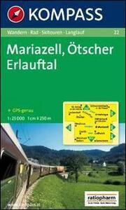 Carta escursionistica e stradale n. 22. Mariazell. Ötscher, Erlauftal 1:25.000. Adatto a GPS. DVD-ROM. Digital map
