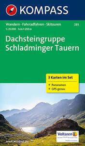 Carta escursionistica e stradale n. 293. Dachsteingruppe, Schladminger Tauern set 3 c. Adatto a GPS. DVD-ROM. Digital map - copertina