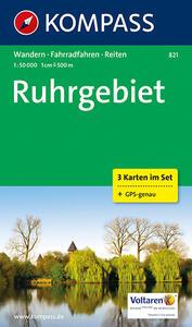 Carta escursionistica e stradale n. 821. Ruhrgebiet set 3 carte. Adatto a GPS. DVD-ROM. Digital map