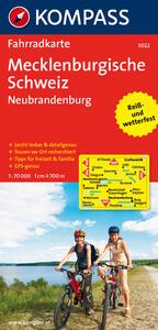 Carta cicloturistica n. 3022. Mecklenburgische Schweiz Neubrandenburg 1:70.000. Adatto a GPS. DVD-ROM. Digital map - copertina