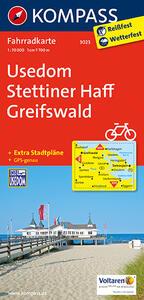 Carta cicloturistica n. 3023. Usedom, Stettiner Haff, Greifswald 1:70.000. Adatto a GPS. DVD-ROM. Digital map