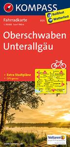 Carta cicloturistica n. 3123. Obershwaben, Unterallgäu 1:70.000. Adatto a GPS. DVD-ROM. Digital map