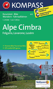 Carta escursionista n. 631. Atip. Folgaria, Lavarone, Luserna 1:25.000. Adatto a GPS. Digital map. DVD-ROM