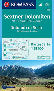 Carta escursionistica n. 625. Dolomiti di Sesto-Sextner Dolomiten 1.25:000. Adatto a GPS. DVD-ROM. Digital map - copertina
