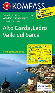 Carta escursionistica n. 096. Alto Garda, Val di Ledro 1:25.000. Adatto a GPS. DVD-ROM. Digital map - copertina