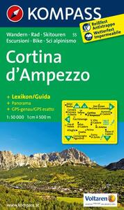 Carta escursionistica n. 55. Cortina d'Ampezzo. Adatto a GPS. Digital map. DVD-ROM