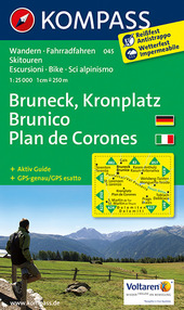 Carta escursionistica n. 045. Plan de Corones, Brunico-Kronplatz, Bruneck 1:25.000. Adatto a GPS. DVD-ROM. Digital map
