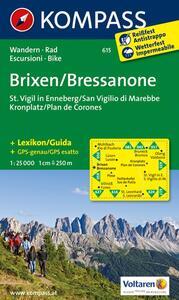 Carta escursionistica n. 615. Bressanone, S. Virgilio-Brixen, St. Vigil 1.25:000. Adatto a GPS. Digital map. DVD-ROM - copertina
