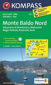 Carta escursionistica n. 691. Monte Baldo nord, Altopiano di Brentonico, Malcesine, Nago 1:25.000. Adatto a GPS. Digital map. DVD-ROM - copertina