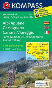 Carta escursionistica n. 2451. Alpi Apuane, Garfagnana, Carrara, Viareggio. Adatto a GPS. DVD-ROM. Digital map