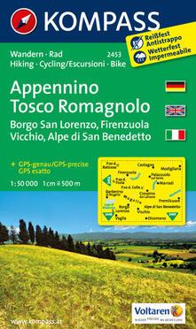 Filmarelalterita.it Carta escursionistica n. 2453. Appennino Tosco Romagnolo 1:50.000. Ediz. multilingue Image
