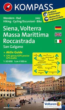 Steamcon.it Carta escursionistica n. 2462. Siena, Volterra, Massa Marittima, Rocca Strada 1:50.000. Ediz. multilingue Image
