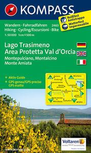 Carta escursionistica n. 2463. Lago Trasimeno, area protetta Val d'Orcia. Adatto a GPS. DVD-ROM. Digital map - copertina