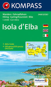 Carta escursionistica n. 2468. Isola d'Elba 1:25.000. Adatto a GPS. Digital map. DVD-ROM - copertina