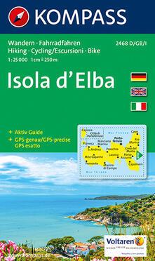 Ascotcamogli.it Carta escursionistica n. 2468. Isola d'Elba 1:25.000. Ediz. multilingue Image