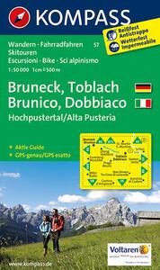 Carta escursionistica n. 57. Brunico, Dobbiaco, Alta Val Pusteria-Bru neck, Toblach, Hochpustertal. Adatto a GPS. Digital map. DVD-ROM - copertina