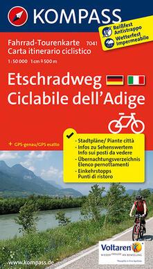 Daddyswing.es Carta cicloturistica tour n. 7041. Ciclabile dell'Adige-Etschradweg Image