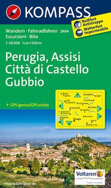 Listadelpopolo.it Carta escursionistica n. 2464. Perugia, Assisi, Città di Castello, Gubbio 1:50.000 Image